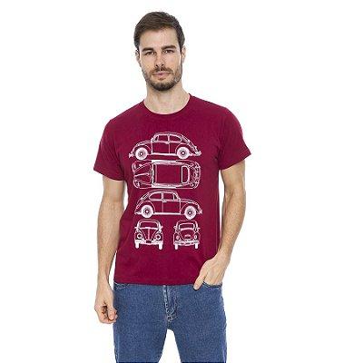 Camiseta Maré D' Água Malha Algodão Estampa Fusca
