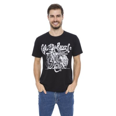Camiseta Maré D' Água Malha Algodão Estampa Motorcycle