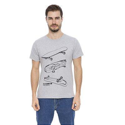 Camiseta Maré D' Água Malha Algodão Estampa Skate