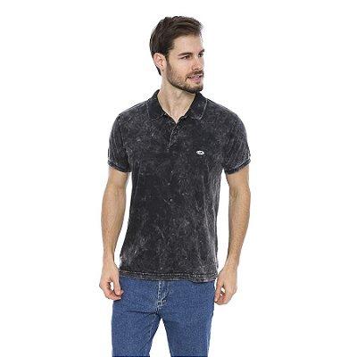 Camisa Pólo Masculina Lavação Marmorizada