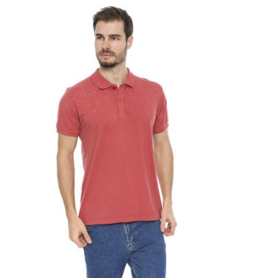 Camisa Pólo Masculina Respingos Superior