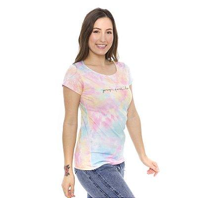 Blusa Tie Dye Estampa Young Finest Love