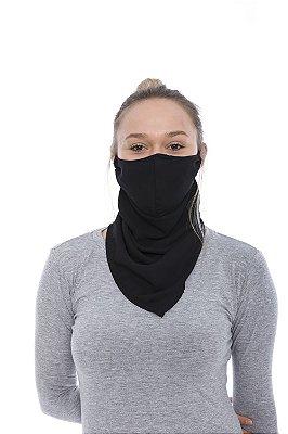 Máscara Lenço de Tecido Lavável Preto