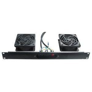Kit de Ventilação para Rack com 2 Ventiladores e com Termostato Digital