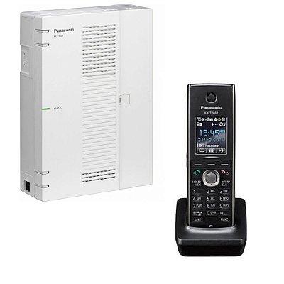 Central PABX IP Panasonic KX-HTS-32 com 06 troncos SIP + 08 ramais IP sem fio telefone Panasonic TPA 60
