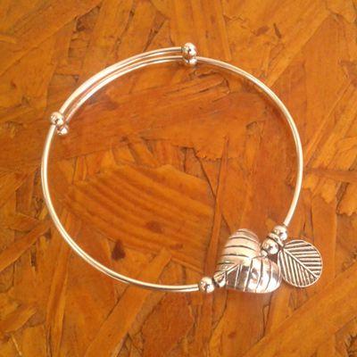 pulseira rigida de prata
