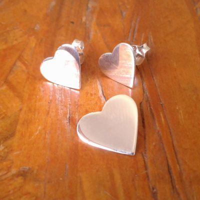 Conjunto brinco + pingente coração