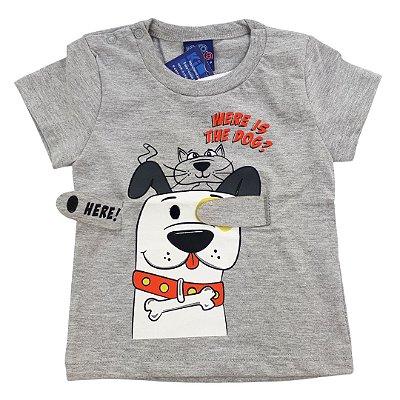 Roupa de Bebê Menino Camiseta Mescla Divertida Brincar
