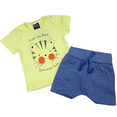 Roupa de Bebê Menino Verão Conjunto de Calor Urso Amarelo Kiko Baby