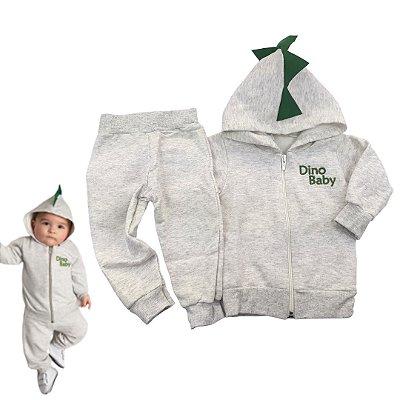 Conjunto Touca Dino Baby Minimalista