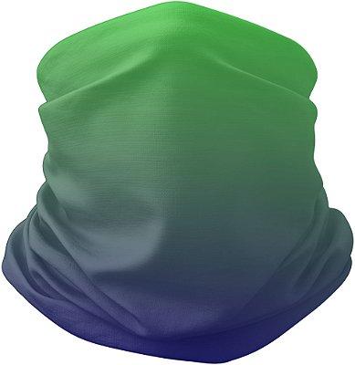 Bandana Tubular Gradiente Verde