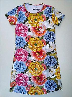 Vestido Estampado Floral + Xadrez 5KM