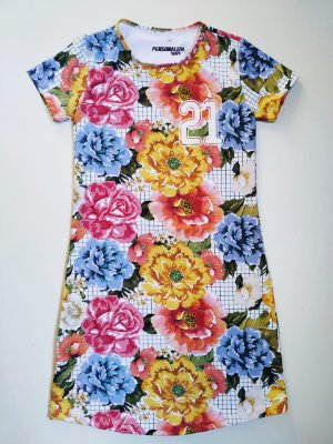 Vestido Estampado Floral + Xadrez 21KM