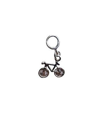 Berloque Bike Folheado a Prata