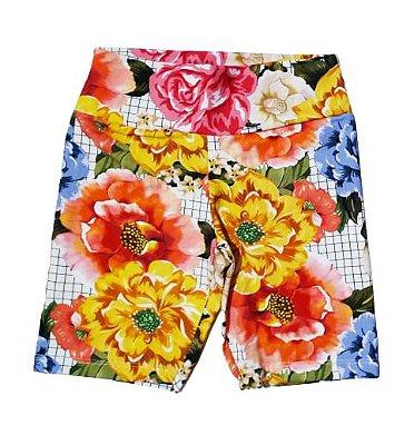 Bermuda Estampada Floral + Xadrez