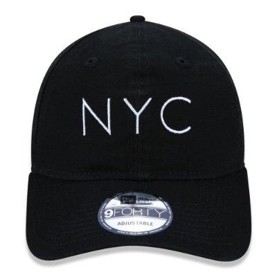 BONE NEW ERA ORIGINAL 940UNST NEW ERA WASHED DUCK NYC BLK SS20 NEP20BON107