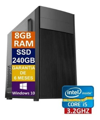 Pc Computador Cpu Intel Core I5 + Ssd 240gb, 8gb Memória Ram