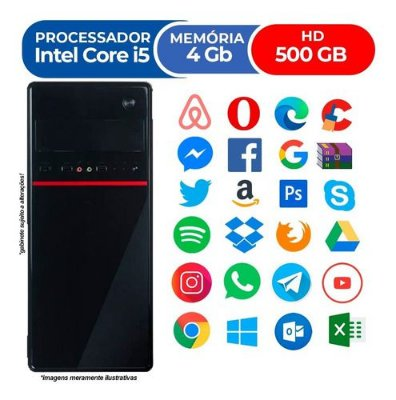 Pc Cpu Nova Intel Core I5 4gb Hd 500gb Wifi Hdmi Promoção