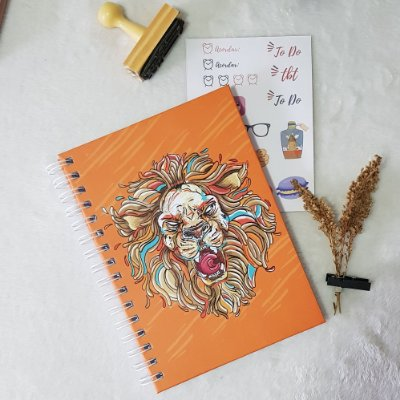 Sketchbook Lion Colours - Edicão Limitada