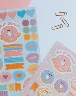 Cartela de adesivo Candy