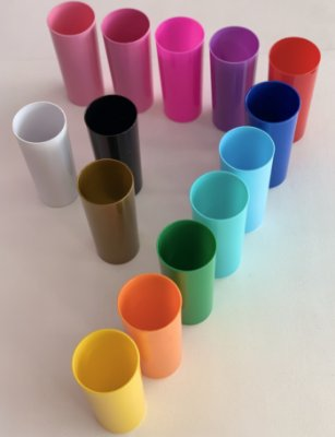 Copos Long Drink 350ml - Cores: Fechadas
