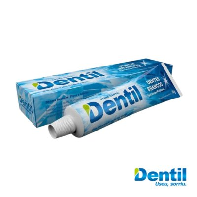 Creme Dental Dentil Dentes Brancos c/ Flúor 90g ( Possui Cálcio )