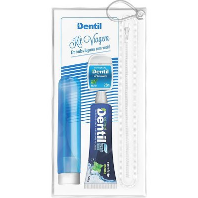 Kit Viagem Dentil Azul