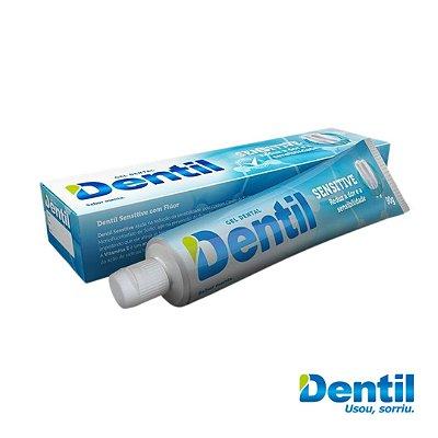 Creme Dental Dentil Sensitive Menta c/ Flúor 90g (sabor de menta)