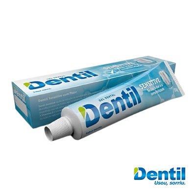 Creme Dental Dentil Sensitive Menta c/ Flúor 50g (sabor de menta)