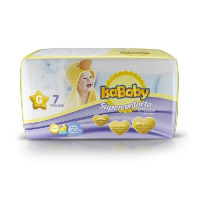 Fralda IsaBaby Premium Regular G 07 Unidades ( cheirinho delicioso)