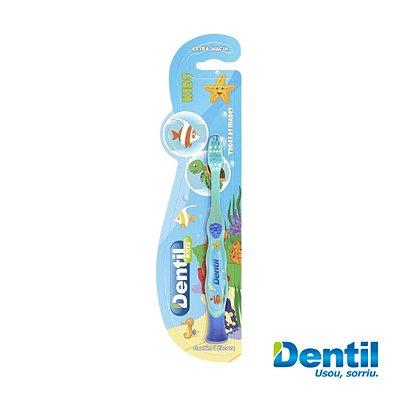 Escova Dental Dentil Kids Peixinho (com cores alegres e vibrantes)