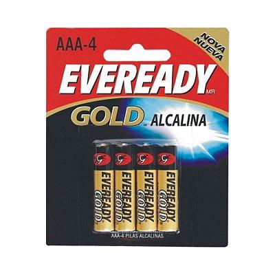 Pilha Eveready Alcalina Gold Palito AAA4 1x4 ( Voltagem 1,5V )