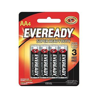 Pilha Eveready Pequena AA4 1x4 ( Zinco Carvão, Voltagem 1,5V )