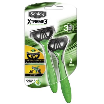 Aparelho Schick Xtreme 3 Pele Sensível (Verde) 1x2 (Capa Protetora)