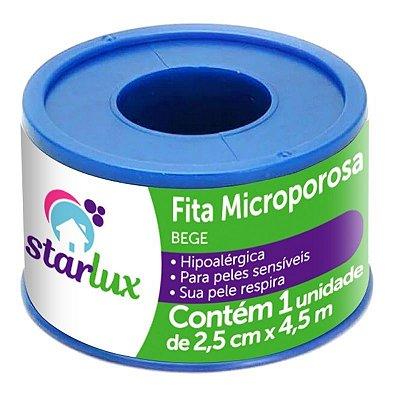 Fita Microporosa Bege Hipoalérgica 2,5CMX4,5MTS Eficácia Starlux