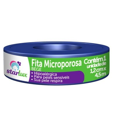 Fita Microporosa Bege Hipoalérgica 1,2CMX4,5MTS Eficácia Starlux