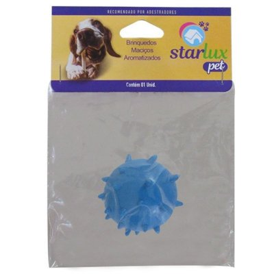Bola Maciça Para Cachorro Colorida Mamona 60mm - Linha Starlux Pet
