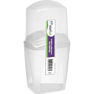 Porta Escova de Dentes Branco Starlux ( Com Tampa Para Proteção )
