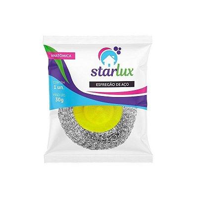Esfregão De Aço Anatômico Starlux ( Produto Para Limpeza Pesada )