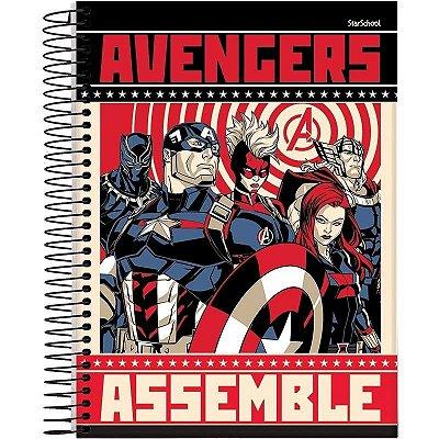 Caderno Universitário Disney Avengers 10 M 160 Folhas - StarSchool