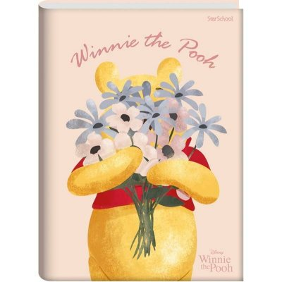 Caderno universitário Disney Pooh Capa Dura 80 folhas –StarSchool