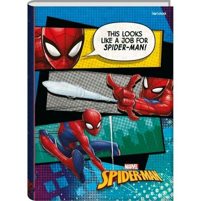 Caderno Universitário  Disney Spider CD 80  folhas  –  StarSchool