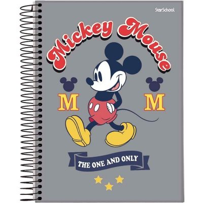 Caderno Universitário Disney Mickey 10 M  160 Folhas – StarSchool