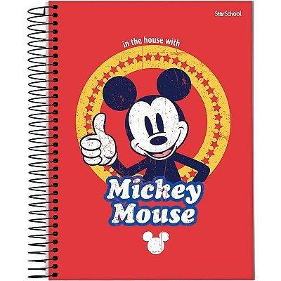 Caderno Universitário Disney Mickey 1 Matéria 80 Folhas –StarSchool