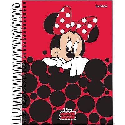 Caderno Disney Minnie Espiral Capa Dura 80  Folhas  –  StarSchool