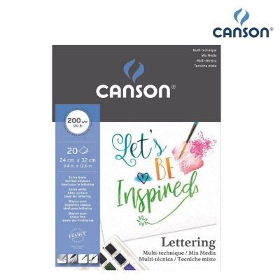 BLOCO CANSON MIX LETTERING 24X32 200G 20FL