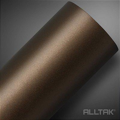 VINIL ALLTAK JATEADO BROWN METALLIC 1,38MT X 1,00MT