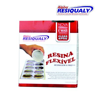 RESINA FLEXIVEL CONJUNTO C/ ENDURECEDOR 500G