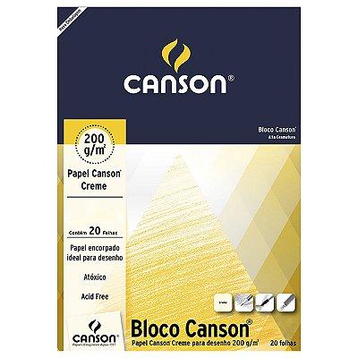 BLOCO CANSON DESENHO 200 GR BRANCO 20 FL