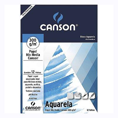 BLOCO CANSON AQUARELA 300G